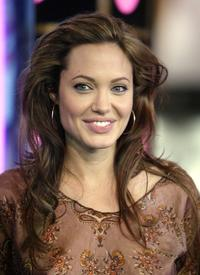 Angelina Jolie at the MTV's Total Request Live.