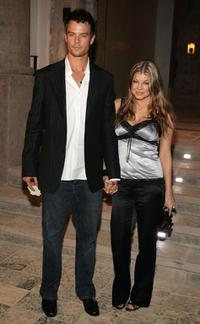 Josh Duhamel and Fergie at the Gucci Spring 2006 Fashion Show.