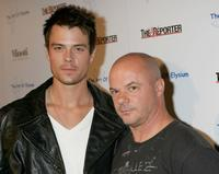 Josh Duhamel and Russell Young at the West Coast opening of Mr. Young's exhibit fame, shame and the realm of possibility.