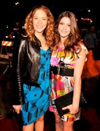 Rachelle Lefevre and Ashley Greene at the premiere of