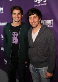 Jason Ritter and Simon Helberg at the EW and SyFy party during the Comic-Con 2010.