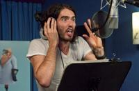 Russell Brand on the set of