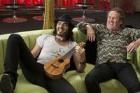 Russell Brand as Aldous and Colm Meaney as Jonathan in