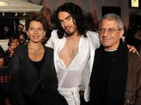 Donna Langley, Russell Brand and Ron Meyer at the California premiere of