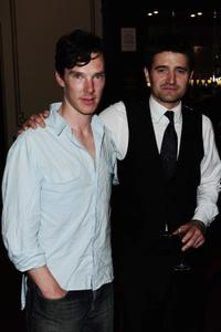 Benedict Cumberbatch and Tom Chambers at the English National ballet cocktail reception.