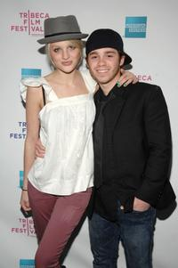 Kirby Bliss Blanton and Ryan Pinkston at the premiere of