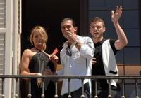 Antonio Banderas, Justin Timberlake and Cameron Diaz at the photocall of