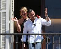 Antonio Banderas and Cameron Diaz at the photocall of