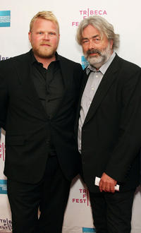 Anders Baasmo Christiansen and producer Sigve Endresen at the premiere of