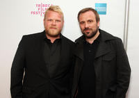 Anders Baasmo Christiansen and director Rune Denstad Langlo at the premiere of