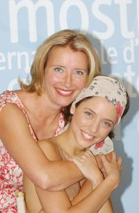 Emma Thompson and Leticia Dolera at the photocall of