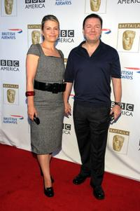 Jane Fallon and Ricky Gervais at the 6th Annual BAFTA TV Tea Party.