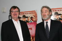 Garrison Keillor and Kevin Kline at the premiere of