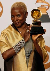 Angelique Kidjo at the 50th Annual Grammy Awards pre-telecast show.