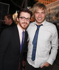 Drake Bell and Ryan Hansen at the premiere of