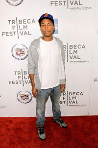 Pharrell Williams at the premiere of