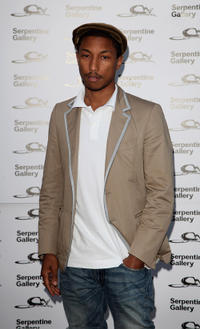 Pharrell Williams at the Serpentine Gallery Summer Party in England.