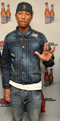 Pharrell Williams at the Coors Light Search for the Coldest National competition in New York.