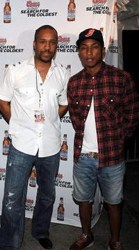 Sheldon Boyea and Pharrell Williams at the Coors Light Super Cold Summer Kickoff Event in Georgia.