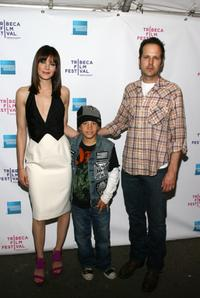 Michelle Monaghan, Jimmy Bennett and director James Mottern at the premiere of
