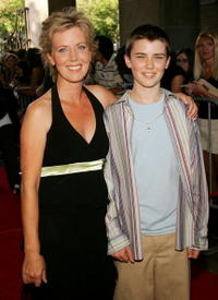 Cameron Bright and his Mother at the premiere of