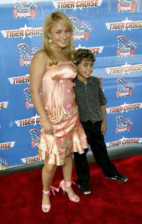 Hayden Panettiere and Jansen Panettiere at the premiere of