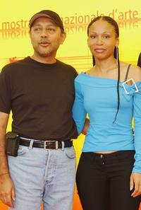 Producer Anant Singh and Leleti Khumalo at the photocall of