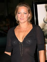 Zoe Bell at the premiere of