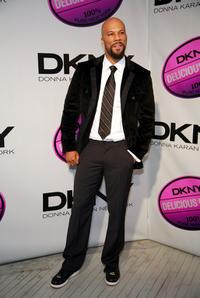 Common at the DKNY Delicious Night fragrance launch party.