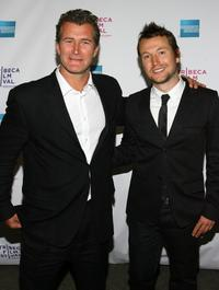 Jody Dwyer and Leigh Whannell at the premiere of