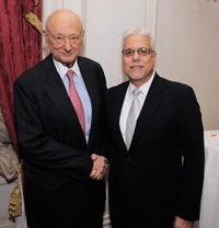 Ed Koch and Vincent Alfieri at the celebration of Koch's 85th Birthday and 20th Anniversary.