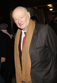 Ed Koch at the after party of the screening of