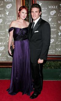 Rumer Willis and Guest at the Art of Elysium's 2nd Annual black tie gala.