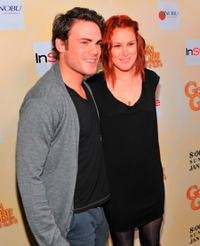 Micah Alberti and Rumer Willis at the HFPA Salute To Young Hollywood Party.