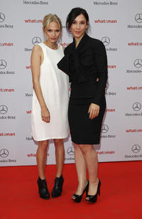 Mavie Hoerbiger and Sibel Kekilli at the Germany premiere of