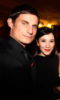 Clemens Schick and Sibel Kekilli at the German Film Awards party in Germany.