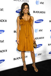 Eva Longoria Parker at the launch of the Blackjack II by Samsung in Hollywood, California.