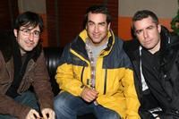 John Oliver, Rob Riggle and Jason Jones at the 2008 Stockings with Care celebrity bartending night.