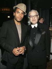 Lenny Kravitz and Sy Kravitz at the Surprise 80th Birthday Party For Bobby Short.