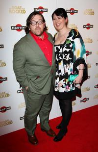 Nick Frost and Guest at the world premiere of