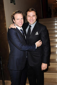 Rafe Spall and comedian David Walliams at the premiere of