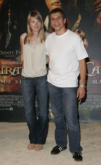 Clemence Poesy and Nagui at the premiere of