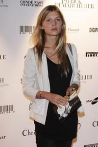 Clemence Poesy at the Patrick Demarchelier's exhibition Party.