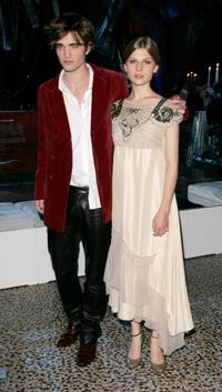 Robert Pattinson and Clemence Poesy at the premiere of