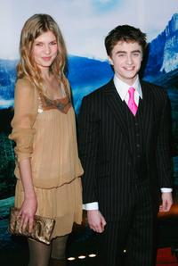 Clemence Poesy and Daniel Radcliffe at the premiere of
