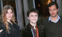 Clemence Poesy, Daniel Radcliffe and Producer David Heyman at the photocall of