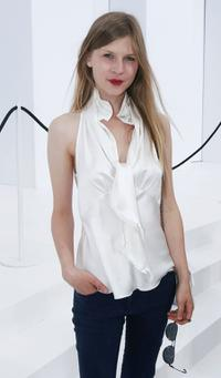 Clemence Poesy at the Chanel Haute Couture Fall-Winter 2006/07 Fashion show during the Paris Fashion Week.