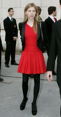 Clemence Poesy at the Chanel Fashion show during the Paris Fashion Week (Haute Couture) Spring-Summer 2008.