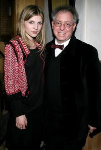 Clemence Poesy and James Schamus at the after party of the premiere of