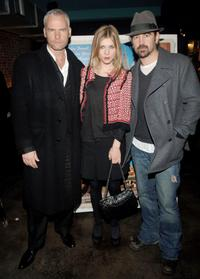 Director Martin McDonagh, Clemence Poesy and Colin Farrell at the premiere of